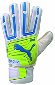 Puma PowerCat 3.12 Protect Soccer Goalie Glove, White, 8