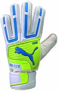 Puma PowerCat 3.12 Protect Soccer Goalie Glove, White, 8