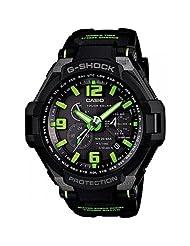 Casio Men's G1400-1a3dr G-shock Aviation Black Resin Multi-function Watch