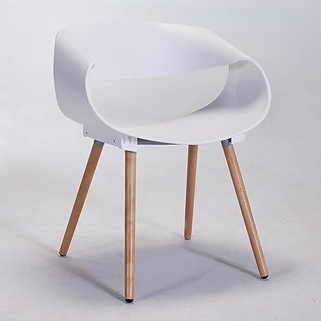 JJZDYZ Silla Multicolor simple plástico hogar creativo moda respaldo comedor silla (75 * 46 cm) Silla plegable ( Color : 2* )