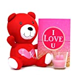 Valentine Gift with Cute Red Teddy N Greeting Card GIFTS110151 Romantic Valentine Gift,Valentine Gift for Him,Valentine Gift for Her,Valentine Gift for Boyfriend,Valentine Gift for Girlfriend,Valentine Gift for Husband,Valentine Gift for Wife