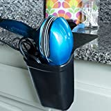 Hanging Hair Appliance Holder - Santa's Best for Blow Dryers, Hot Straighteners, Curling and Flat Irons - Heat Resistant Silicone Creates More Space - Solves the Problem of Bathroom Counter Burns