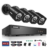 Annke 8-Channel 1080P Lite Video Security System DVR and (4) Weatherproof...