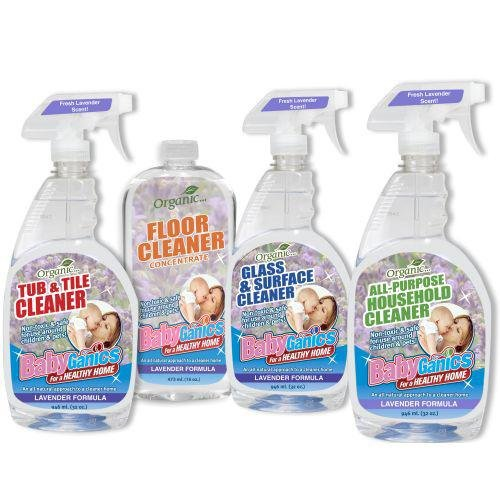 BabyGanics - Cleaning Kit 4 piece Lavender