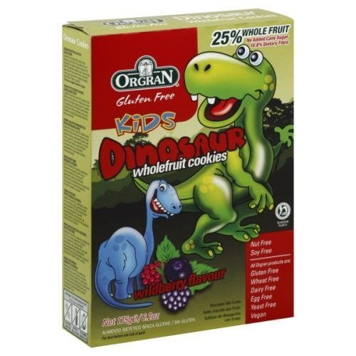 Orgran Whole Fruit Berry Dino Cookies 6.2 oz. (Pack of 8)