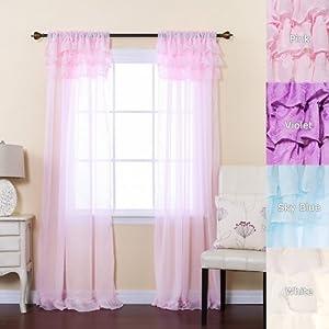 Pink Sheer Curtains Panels Car Interior Design