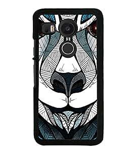 Lion Tiger Face Clipart Sketch 2D Hard Polycarbonate Designer Back Case Cover for LG Nexus 5X :: LG Google Nexus 5X New