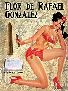 Amazon.com: La HABANA Cuban Cigar Vintage-Style FLOR de RAFAEL Art