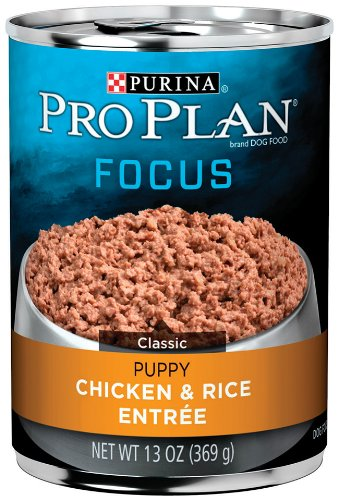 Purina Pro Plan Puppy Food, Chicken and Rice Entr????e, 13-Ounce Cans (Pack of 12)