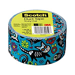 Scotch Duct Tape, Scary Cat, 1.88-Inch by 10-Yard, 6-Pack