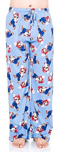 Nintendo Men's Lounge Pants Sleep Bottoms Super Mario Bros Print Cotton (X-large)