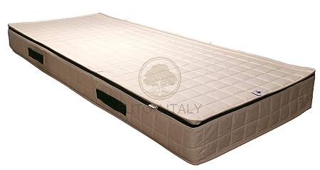 Materasso in lattice e cocco rivestimento in cotone naturale trapuntato sfoderabile 140 x 190 x 20 cm