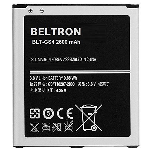 New 2600 mAh Replacement Battery for Samsung Galaxy S4 , S4 Active (I337 I537 I545 L720 M919 I9500 I9505) - B600BE B600BU B600BZ - BELTRON 1 Year Warranty (Samsung S4 Active Battery compare prices)