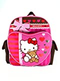 Small Size Brown and Pink Hello Kitty and Teddy Backpack - Hello Kitty Backpack