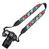Elvam Camera Neck Shoulder Belt Strap for DSLR / SLR / Nikon / Canon / Sony / Olympus / Samsung / Pentax ETC - Flower Floral 08