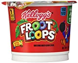 Kellogg's Froot Loops Breakfast Cereal, Single-Serve 1.5Oz Cup, 6 Cups/Box