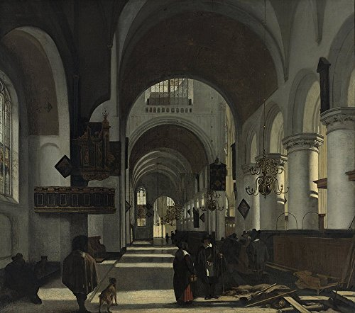 emanuel-de-witte-interior-of-a-church-large-semi-gloss-print
