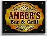 Amber's Bar & Grill 14'' x 11'' Collectible Stretched Canvas