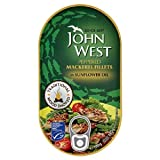 John West Peppered Mackerel Fillets in Sunflower Oil 190g
