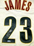 LeBron James Signed/Autographed Cleveland Cavaliers White Home Jersey Upper Deck Authenticated Amazon.com