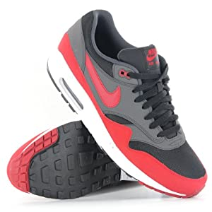 Nike Air Max 1 Essential Black Red Mens Trainers
