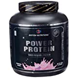 British Nutritions - Fitness Range Power Protein- 2.5 Kg (Strawberry)