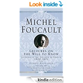 Lectures on the Will to Know (Michel Foucault: Lectures at the Coll�ge de France)