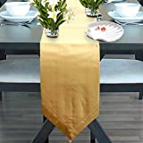 Milano Home Plain Gold Table Runner