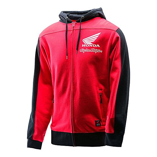 sweat-a-capuche-zippe-troy-lee-designs-team-honda-wing-ziphood-homme-rouge-taille-m