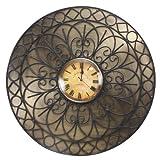 Decoritte Iron And Glass Antique Theme Wall Clocks (27 Cm X 27 Cm X 1.75 Cm, 83679)