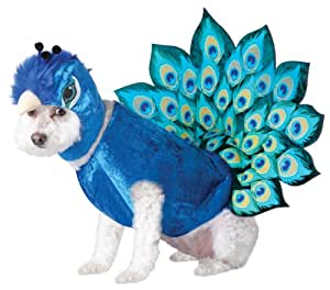 Animal Planet Peacock Dog Costume, Large, Multicolor