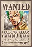 ONE PIECE - Poster Wanted Zoro (98x68) roulé filmé
