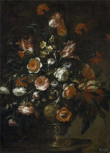 Oil Painting 'Perez Bartolome Florero Ca. 1676 ' Printing On Polyster Canvas , 18 X 25 Inch / 46 X 64 Cm ,the Best Living Room Gallery Art And Home Gallery Art And Gifts Is This Imitations Art DecorativeCanvas Prints