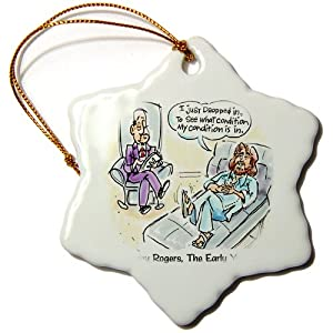 orn_7565_1 Londons Times Gen. 2 Music Cartoons - Kenny Rogers The Early Years - Ornaments - 3 inch Snowflake Porcelain Ornament