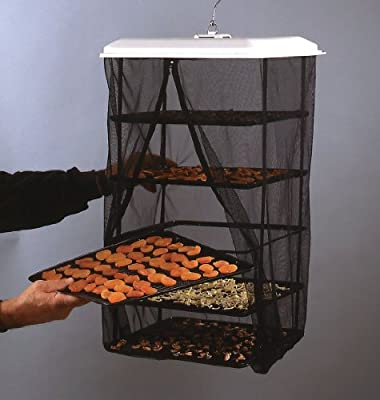 Food Dehydrator - Hanging Food Pantrie Dehydration System - Non-electric, Environmentally Friendly, Natural Way to Dry Foods,jerky & More. 5-tray Dehydrator by Spinosae