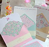 SCStyle 32 Cute Kawaii Lovely Special Design Writing Stationery Paper with 16 Envelope + 16 Label Seal Sticker (7.1x5.2 inch)
