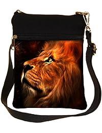 Snoogg Lion Heart Cross Body Tote Bag / Shoulder Sling Carry Bag