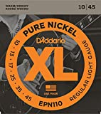 【国内正規品】 D'Addario ダダリオ エレキギター弦 XL Pure Nickel Round Wound Regular Light (10-45) EPN-110