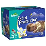 Pampers Extra Protection Diapers Size 5 Super Pack 66 Count