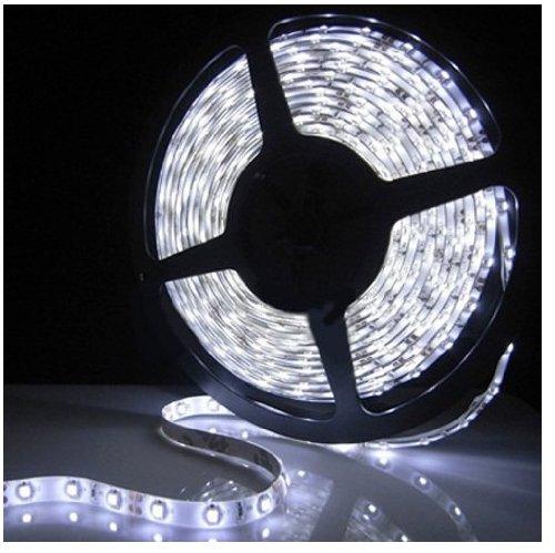 Epartsdom@ 16.4Ft 5M Smd 5050 Cool White Waterproof Led Flexible Flash Strip 300 Leds Led Light Strip 60Leds/M