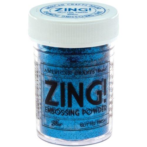 Zing glitter embossing powder 1 ounce blue arts for American crafts zap embossing heat gun