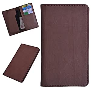 DCR Pu Leather case cover for XOLO 8X 1000 (brown)
