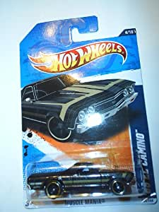2011 Hot Wheels '68 EL CAMINO Muscle Mania 4 of 10, #104 Black and Gold detail