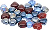Hardik Creations Glass Pebbles (400gm, Multicolour, Pack of 22)