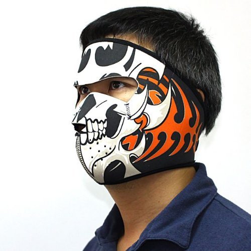 New Snow Skiing Neoprene Face Motorcycle Biker Paintball Wrap Mask Skull Totem