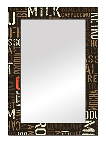 The Attic Midway Mirror Frame (Glossy Finish, Brown)