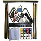 Black Finish Billiard Pool Table Accessory Kit W Tech Style Ball Set