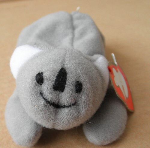 TY Teenie Beanie Babies Mel the Koala Bear Stuffed Animal Plush Toy - 5 inches long - Gray - 1