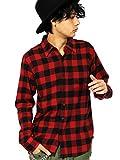 (エイト) 8(eight)4color ブロックチェック ネルシャツ 長袖シャツ コットン アメカジ レッドA M