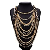 Girl Era Elegant Simple Chain Gorgeous Multilayer Choker Egyptian Style Party Necklace Ladys Womens
